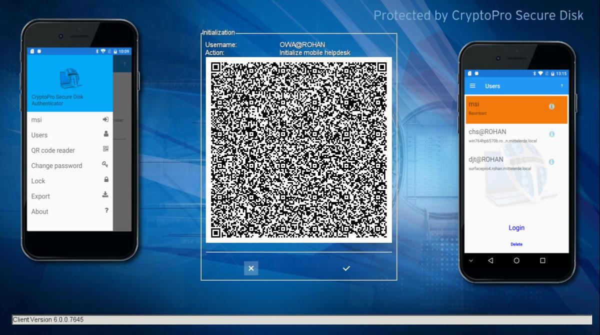 Secure Disk for BitLocker Smartphone Authentication