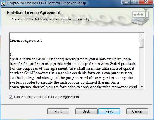 Figure 3: License Agreement